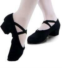 Балетки кожаные на каблуке для танцев 36-37 размер