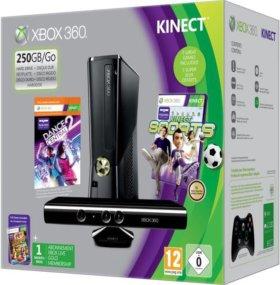 Xbox 360 + kinect + 2 геймпада