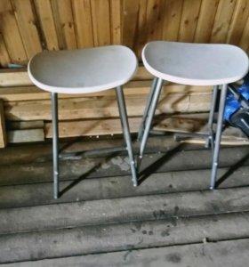 2 барных стула икеа