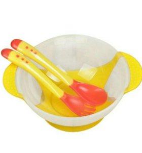 Детская посуда + приборы