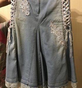 Джинсовая юбка Gizia