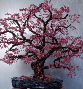 Сувенир дерево из бисера