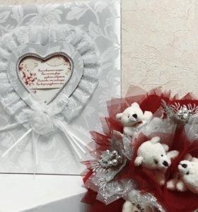 Свадебный фотоальбом + ПОДАРОК ИЗ МИШЕК