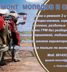 Качественный ремонт мопедов и скутеров