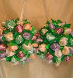 Свадебный шар-букет