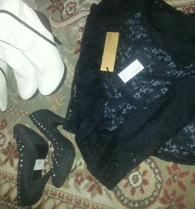 Платье,туфли,сапоги