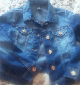Куртка новая джинсовая zara