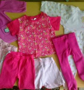 Набор вещей для девочки 74-80 размера