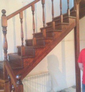 Лестница из дерева бюджетная ЛДБ-1