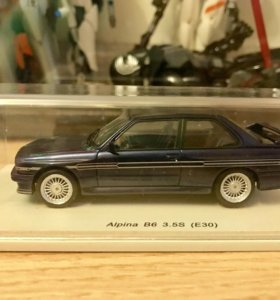 Модель BMW Alpina M3 B6 3.5S (E30). spark 1:43