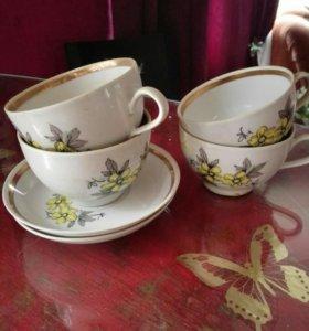 Чайный сервиз фарфоровый