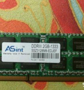 Asint DDRIII 2gb - 1333