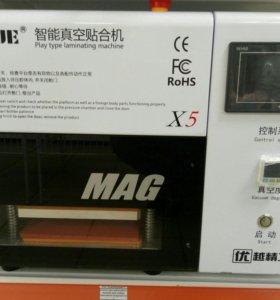 Станок для прессовки+машина для спайки диспллев