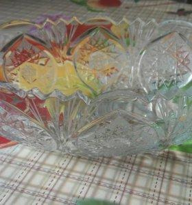Хрустальная ваза(салатник)