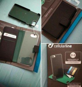 Кейс (чехол + книжка) на iPhone7 (новый)