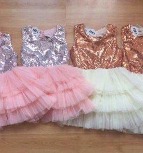 Шикарное платье для принцессы(новое с биркой)