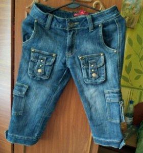 Бриджи джинсовые, р.42-44