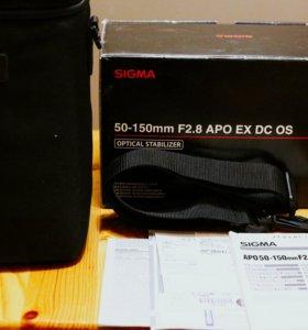 Sigma 50-150mm F2.8 OS (стаб) для Canon