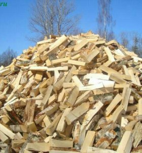 колотые дрова осина береза вперемешку