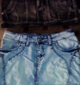 Юбки джинсовые,28 размер