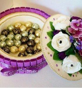 """Оригинальный подарок """"Шкатулка"""" из конфет"""