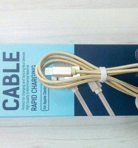 Кабель hoco, micro USB, золотой