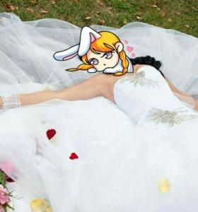 Свадебное платье принцессы👸(разумный торг)