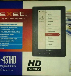Электронная книга Texet TB-431HD
