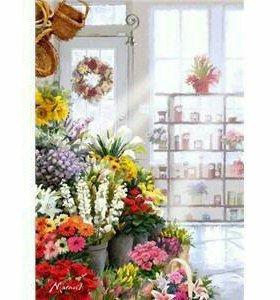🎨 картина по номерам- цветочный магазинчик