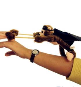 Рогатка летающая обезьяна со звуком