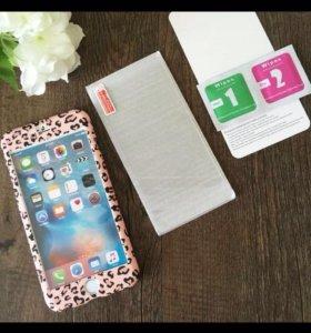Чехол со стеклом iPhone 6,7