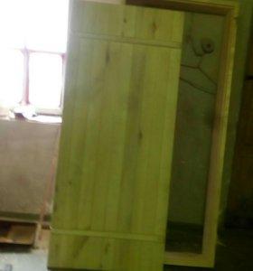 Осиновая дверь для бани