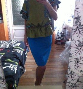 Топ шелк новый юбка 800