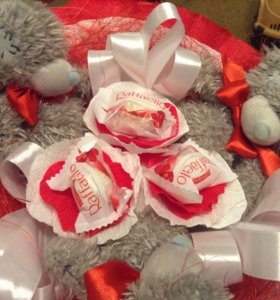 Букет из игрушек с конфетами