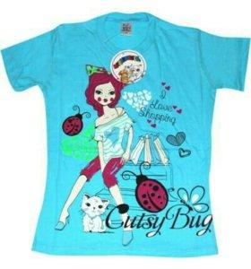 Новые футболки для девочек от 9 до 12 лет