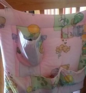 Бортики для кроватки с балдахином