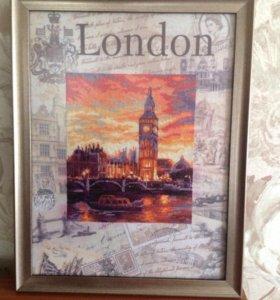 Картина вышитая крестиком Лондон