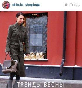 Платье пальто в милитари стиле