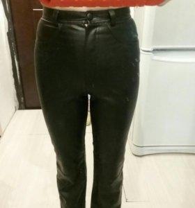 Кожаные штаны с высокой талией Mor&re