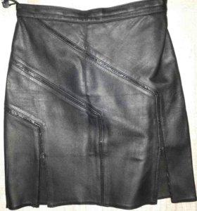 Новая юбка из натуральной кожи
