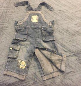 Комбинезон джинсовый 74-80