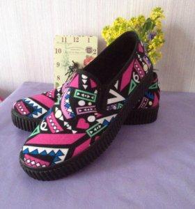 Новые слипоны балетки обувь