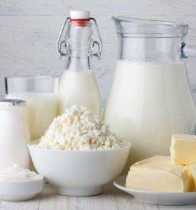 Домашнее молоко,масло,творог,сметана