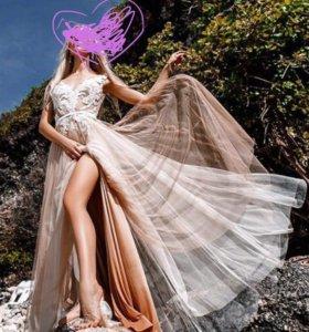 Новое Свадебное/вечернее платье