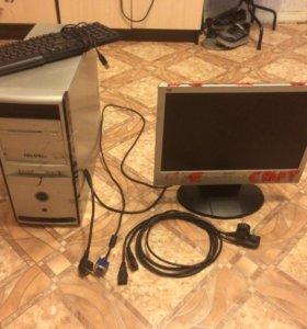 Компьютер,монитор , мышь,клавиатура