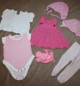 Пакет вещей на девочку 3 месяцев