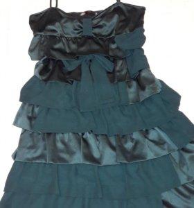 платье befree, цвет изумруд