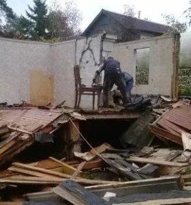 Ломаем постройки. дома все вручную