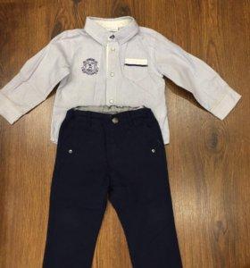Рубашка и брюки р.80 CHICCO