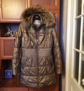 Теплая куртка / пальто Vininus, с капюшоном, 48 р.